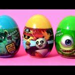 Kung Fu Panda Surprise Eggs Disney Pixar Monsters University Play-Doh Clay Buddies Kinder Lego MLP
