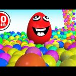 Learn Colors 3D Collection 1 HOUR – Teach Colours for Kids Toddlers Baby with Ball Pit Show