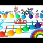 Learn Colors Counting Play-Doh Surprise Eggs Rio Learning Colours