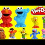 LEARN Colors with Sesame Street Play Doh Microwave Surprises