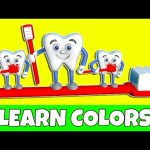 Learn Colors with Teeth Brush 3D for Children, Teach Colours for Kids Baby Toddler with Toothbrush