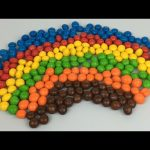 Learn Colours For Children With M&M's Chocolate Candies   Make A Rainbow With M&Ms Candy Colours