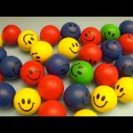 Learn Colours with HUGE Smiley Face Squishy Balls! Fun Learning Contest!