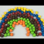 Learn Colours With M&M's Milk chocolate covered peanuts Candy Rainbow