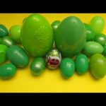 Learn Colours with Surprise Eggs!  GREEN!