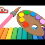 Learn Rainbow Colors with Play-Doh * Creative Fun for Kids with Modelling Clay * RainbowLearning