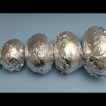 Learn Sizes with Surprise Eggs! Opening HUGE Shiny Silver Chocolate Mystery Eggs!