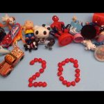 Learn To Count 1 to 20 with Toys and Candy Numbers!