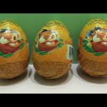 Lion King Chocolate Surprise Eggs opening!!! TOYS inside
