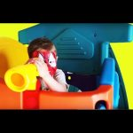Little spiderman at indoor playground for kids. Funny Video from KIDS TOYS CHANNEL