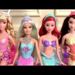Mermaid Barbie Color Magic Glam Pool Party Princess Ariel Color Changers Fairytale Float Muñeca