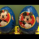 Mickey Mouse Chocolate Surprise Eggs Opening! with TOYS Inside