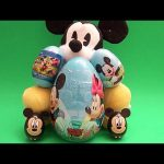 Mickey Mouse Party!  Opening HUGE GIANT JUMBO Disney Surprise Eggs!