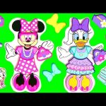Minnie's Bow-Tique Dress-up Wooden Magnetic Dolls with Daisy Duck Disney Muñecas de Madera