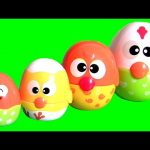 Mommy Chicken Stacking Cups Surprise Toys Eggs Learn Sizes with Baby Toys Huevos Sorpresa