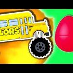 Monster Truck School Bus Vol. 1   Surprise Eggs Learn Colors   Monster Trucks Colour Video for Kids