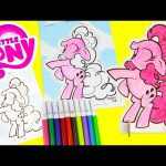 My Little Pony Pinkie Pie Pop Outz Crayola Coloring with Shopkins Season 5