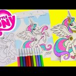 My Little Pony Pop Outz Princess Celestia Coloring with Tsum Tsums and Shopkins Surprises