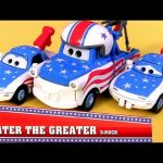 NEW 2013 Mater the Greater Toys CARS TOON With Mater's Fan Mia & Tia Walmart EXCLUSIVE Disney Pixar