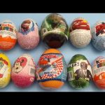 Opening 10 Chocolate Surprise Eggs!  With Kinder Surprise Disney Planes Cars Frozen Star Wars