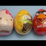 Opening 3 JUMBO Surprise Eggs! Angry Birds Disney Planes Hello Kitty!