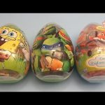 Opening 3 JUMBO Surprise Eggs! ! Teenage Mutant Ninja Turtles TMNT SpongeBob Disney Planes!