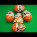 Opening 5 Huge Jumbo Giant Kinder Surprise Eggs!