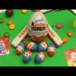 Opening a Collection of HUGE JUMBO GIANT Kinder Surprise Eggs and Chocolate Surprise Eggs!