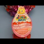 Opening a HUGE GIANT JUMBO MAXI Pink Kinder Surprise Egg!