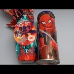 Opening a Spider-Man Can Filled with Surprise Eggs and Huge JUMBO Surprise Egg!