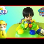 Paw Patrol Pup Racers Family Fun Game for Kids Egg Surprise Toys Chase Nickeloden Ryan ToysReview