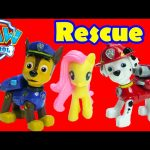 Paw Patrol Rescue Training Center with Chase, Marshall, MLP, and Shopkins