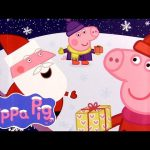 """Peppa Pig Christmas Chocolate Surprise with """"HO HO HO"""" Magnet Nickelodeon Toys by Disney Collector"""