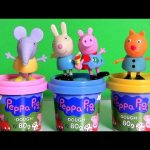Peppa Pig Dough Emily Elephant, Rebecca Rabbit, Candy Cat Nickelodeon Plastilina Play Doh