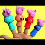 Peppa Pig Finger Puppets Mommy Daddy George Pig Kinder Surprise – Marionetas de dedo Peppa Pig