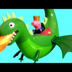 Peppa Pig Fire-breathing Dragon Flyer with Roaring Sounds George Once Upon a Time Disney Surprise