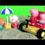 Peppa Pig Holiday Dune Buggy Beach Car with Pig George by toychannel DisneyCollector