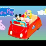 PEPPA PIG Nicekldeon  Peppa Pig Races Mickey Mouse Little Charmers  Peppa Pig Video Toy Parody