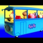 Peppa Pig School Bus Toy Review with Miss Rabbit 2016 – Cerdita Peppa Pig Autobús Escolar