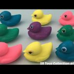 Play and Learn Colours with Glitter Playdough Ducks Fun and Creative for Kids