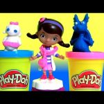 Play Doh Doc McStuffins Doc's Clinic NEW 2016 Play-Doh with Lambie, Stuffy, Hallie Disney Kids Toys