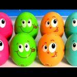 Play-Doh Funny Faces Toy Surprise Eggs – Huevos Sorpresa con caras graciosas PlayDough