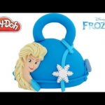 Play Doh How to Make a Disney Frozen Elsa Handbag Cake RainbowLearning