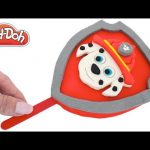 Play Doh How to Make a Giant Paw Patrol Marshall Ice Cream Popsicle DIY RainbowLearning