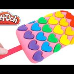 Play-Doh How to Make a Rainbow Heart Popsicle * Creative for Kids * RainbowLearning