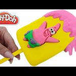 Play Doh How to Make a Spongebob Patrick Slime Jelly Ice Cream Popsicle RainbowLearning