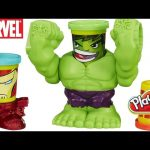 Play-Doh Marvel Smashdown Can-Heads Featuring Hulk Figure Iron Man the Avengers Super Heroes