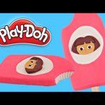 Play doh Popsicle Dora The Explorer   How To Make Playdough Popsicle Dora & Friends