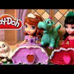 Play Doh Princess Sofia the First & Princesita Vivian With Clover Rabbit Disneyplaydough