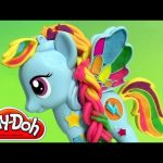 Play Doh Rainbow Dash My Little Pony Style Salon PlayDough Salon Branché | Peinados de colores